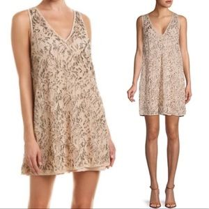 NWT Free People Shine On Beaded Slip Mini Dress